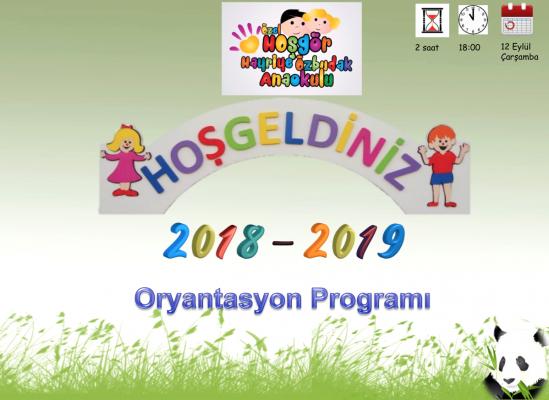 20180912 Oryantasyon Programi