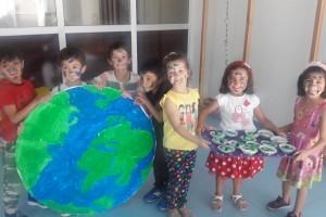 Dünyamız: ormanlar okyanuslar. Mısır unundan dünya pastamız