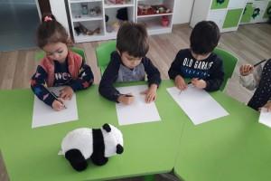 panda çiziyorum